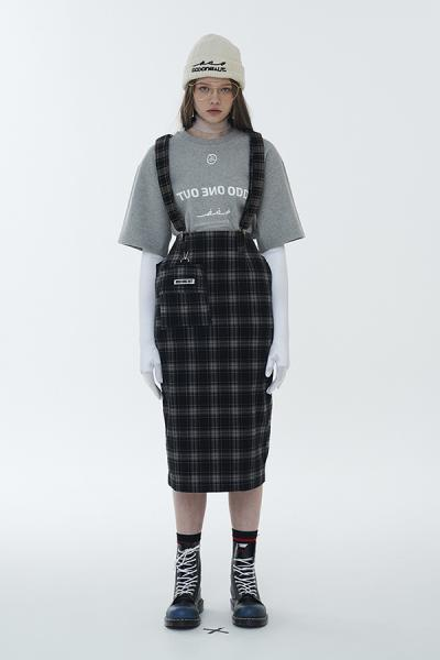 <SALE>【ODD ONE OUT】SUSPENDER SKIRT