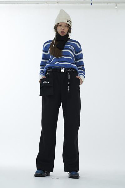 <SALE>【ODD ONE OUT】POCKET&BELT WIDE PANTS