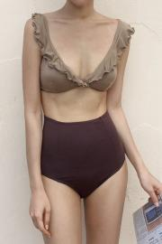 Frill Bicolor Swim Wear