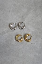 <SALE>Double Hoop Pierce