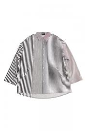 【AJO BY AJO】Over Twofold Stripe Shirt