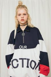 <SALE>【oioi】OUR FICTION HALF ZIP UP
