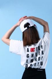 【BASIC COTTON】 ALPHABET HALF T