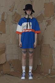 <SALE>【ODD ONE OUT】 COLOER BLOCK OVER SIZE TEE