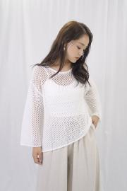 <50%OFF>Mesh Knit Tops