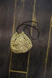 Leopard drawstring bag