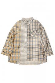 【AJO BY AJO】Over check Mixed shirt