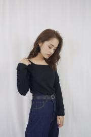 ‹SALE›Rib square tops
