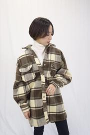 ‹SALE›Over check shirt