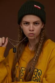 <SALE>【DIM.E CRES】 SQURE STIEEL NECKLACE