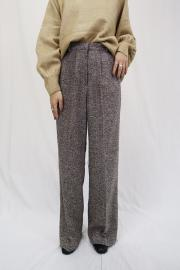 <SALE>Tweed wide pants