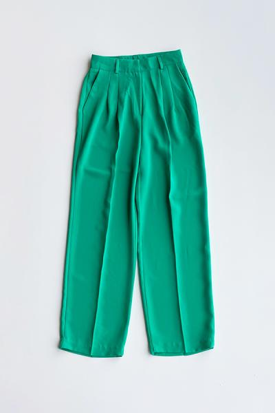 Color straight pants