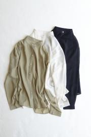 <SALE>Band Color Side Slit Over Shirt