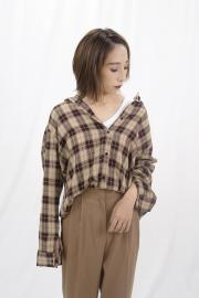 <SALE>Check Loose Shirt