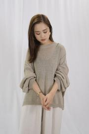 <SALE>Mesh Long Sleeve Knit